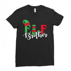 elf brother christmas family matching Ladies Fitted T-Shirt   Artistshot