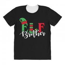 elf brother christmas family matching All Over Women's T-shirt   Artistshot