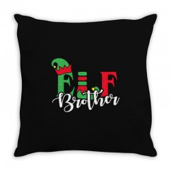 elf brother christmas family matching Throw Pillow   Artistshot