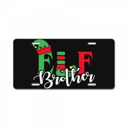 elf brother christmas family matching License Plate   Artistshot