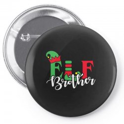 elf brother christmas family matching Pin-back button   Artistshot