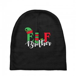 elf brother christmas family matching Baby Beanies   Artistshot