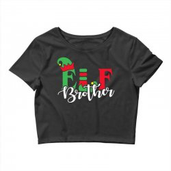 elf brother christmas family matching Crop Top   Artistshot