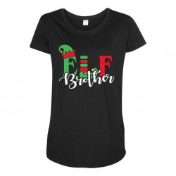elf brother christmas family matching Maternity Scoop Neck T-shirt   Artistshot