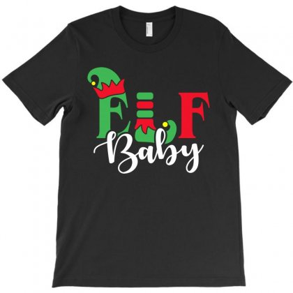 Elf Baby Christmas Family Matching T-shirt Designed By Akin