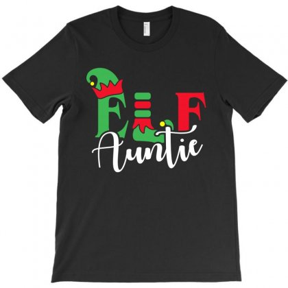 Elf Auntie Christmas Family Matching T-shirt Designed By Akin