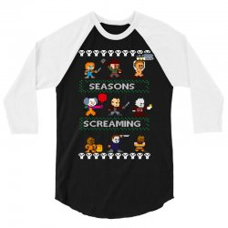 neatoshop seasons screamings ugly christmas 3/4 Sleeve Shirt | Artistshot
