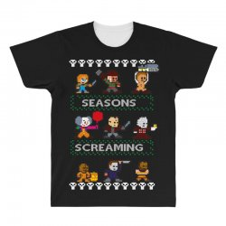 neatoshop seasons screamings ugly christmas All Over Men's T-shirt | Artistshot