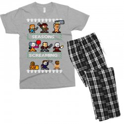 neatoshop seasons screamings ugly christmas Men's T-shirt Pajama Set | Artistshot
