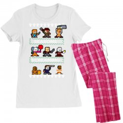neatoshop seasons screamings ugly christmas Women's Pajamas Set | Artistshot