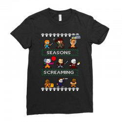 neatoshop seasons screamings ugly christmas Ladies Fitted T-Shirt | Artistshot