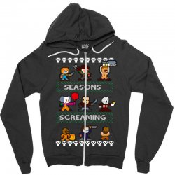 neatoshop seasons screamings ugly christmas Zipper Hoodie | Artistshot