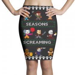 neatoshop seasons screamings ugly christmas Pencil Skirts | Artistshot