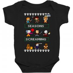 neatoshop seasons screamings ugly christmas Baby Bodysuit | Artistshot