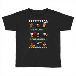 neatoshop seasons screamings ugly christmas Toddler T-shirt | Artistshot