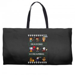 neatoshop seasons screamings ugly christmas Weekender Totes | Artistshot