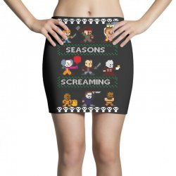 neatoshop seasons screamings ugly christmas Mini Skirts | Artistshot
