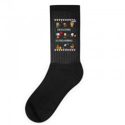 neatoshop seasons screamings ugly christmas Socks | Artistshot