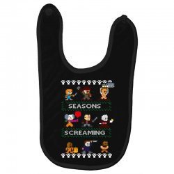 neatoshop seasons screamings ugly christmas Baby Bibs | Artistshot