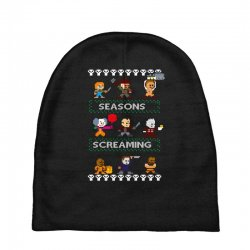 neatoshop seasons screamings ugly christmas Baby Beanies | Artistshot