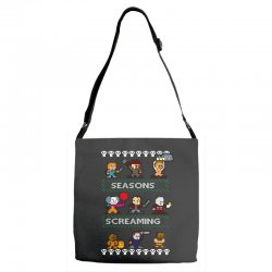 neatoshop seasons screamings ugly christmas Adjustable Strap Totes | Artistshot
