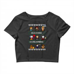 neatoshop seasons screamings ugly christmas Crop Top | Artistshot