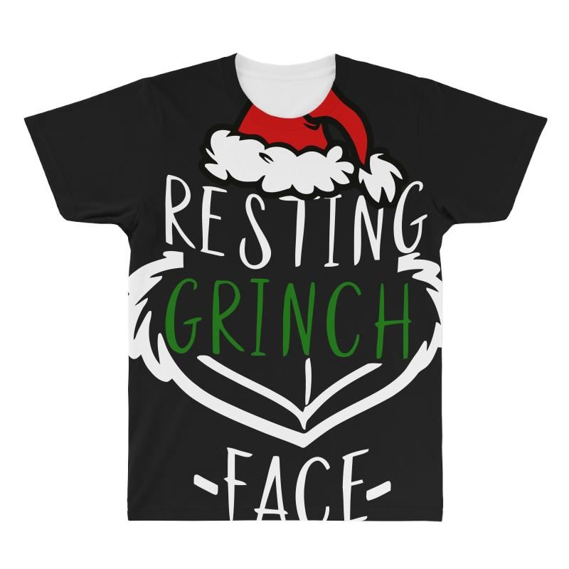 7d0078a7f70 Custom Resting Grinch Face Christmas All Over Men s T-shirt By Black ...