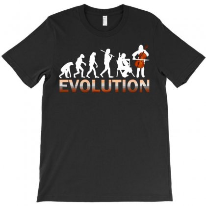 Cello Evolution T-shirt Designed By Luisother