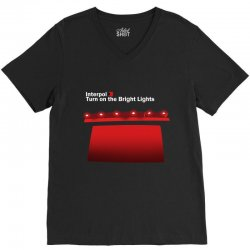 interpol turn on the bright lights V-Neck Tee | Artistshot