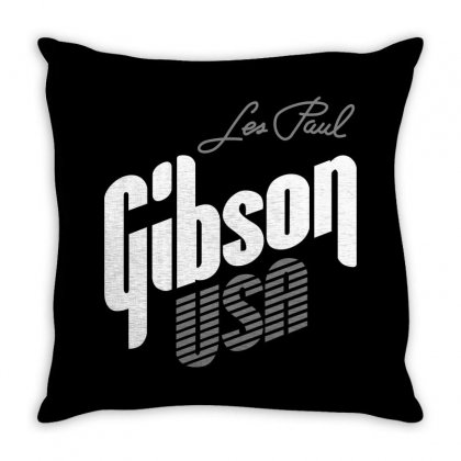 Gibson Les Paul Throw Pillow Designed By Luisother