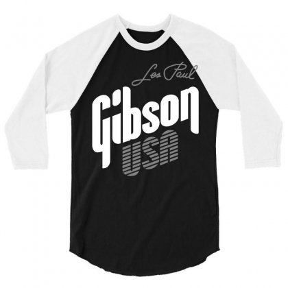 Gibson Les Paul 3/4 Sleeve Shirt Designed By Luisother