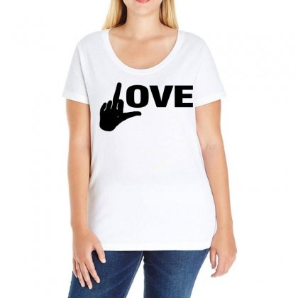 Fucking Love Black Design Ladies Curvy T-shirt Designed By Black White