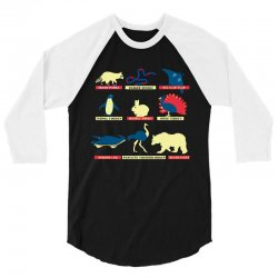 animals of the world limited edition tri blend 3/4 Sleeve Shirt | Artistshot