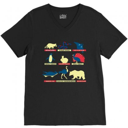 Animals Of The World Limited Edition Tri Blend V-neck Tee Designed By Wizarts