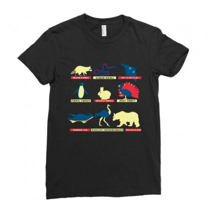 Animals Of The World Limited Edition Tri Blend Ladies Fitted T-shirt Designed By Wizarts