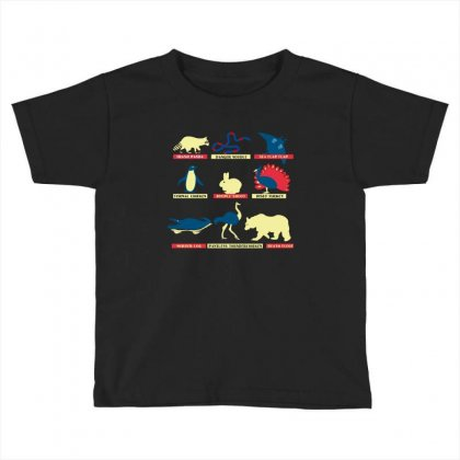 Animals Of The World Limited Edition Tri Blend Toddler T-shirt Designed By Wizarts