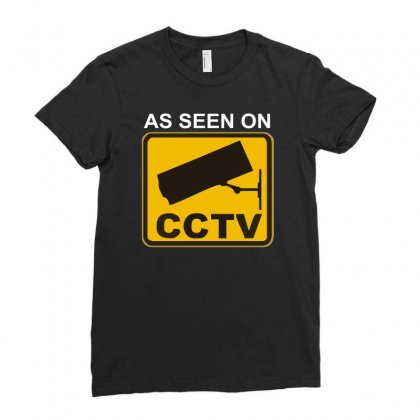 As Seen On Cctv Chav Rude,funny,cool,modern,fun Ladies Fitted T-shirt Designed By Mdk Art
