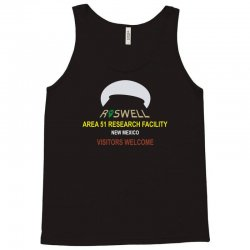 funny alien conspiracy theory roswell area 51 Tank Top | Artistshot