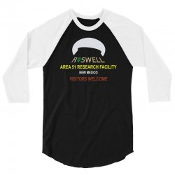 funny alien conspiracy theory roswell area 51 3/4 Sleeve Shirt   Artistshot