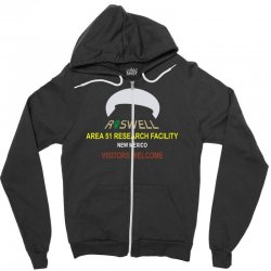 funny alien conspiracy theory roswell area 51 Zipper Hoodie | Artistshot