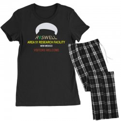funny alien conspiracy theory roswell area 51 Women's Pajamas Set | Artistshot