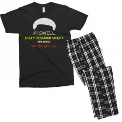 funny alien conspiracy theory roswell area 51 Men's T-shirt Pajama Set | Artistshot