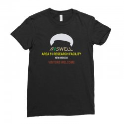 funny alien conspiracy theory roswell area 51 Ladies Fitted T-Shirt | Artistshot