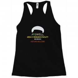 funny alien conspiracy theory roswell area 51 Racerback Tank | Artistshot