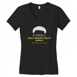 funny alien conspiracy theory roswell area 51 Women's V-Neck T-Shirt | Artistshot