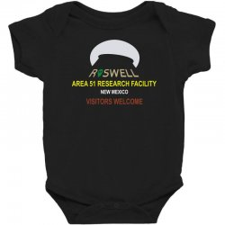funny alien conspiracy theory roswell area 51 Baby Bodysuit | Artistshot