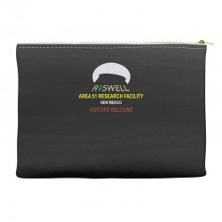 funny alien conspiracy theory roswell area 51 Accessory Pouches | Artistshot