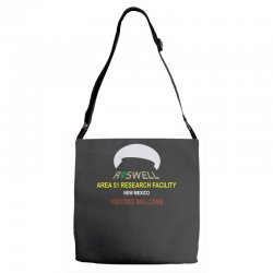 funny alien conspiracy theory roswell area 51 Adjustable Strap Totes | Artistshot