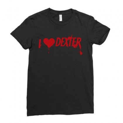 I Love Dexter Ladies Fitted T-shirt