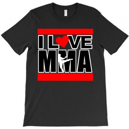 I Love Mma T-shirt Designed By Allentees